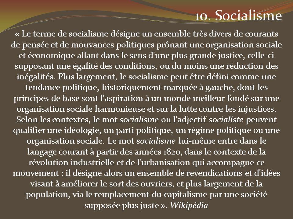 10. Socialisme