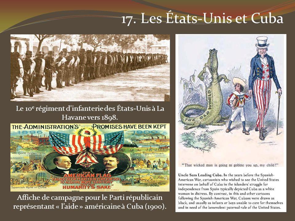 Le 10e régiment d infanterie des États-Unis à La Havane vers 1898.
