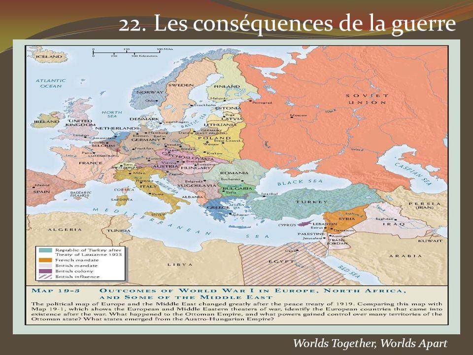 22. Les conséquences de la guerre