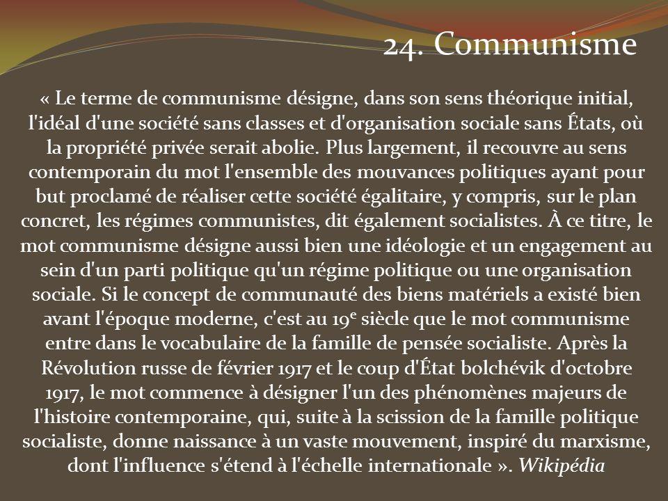 24. Communisme