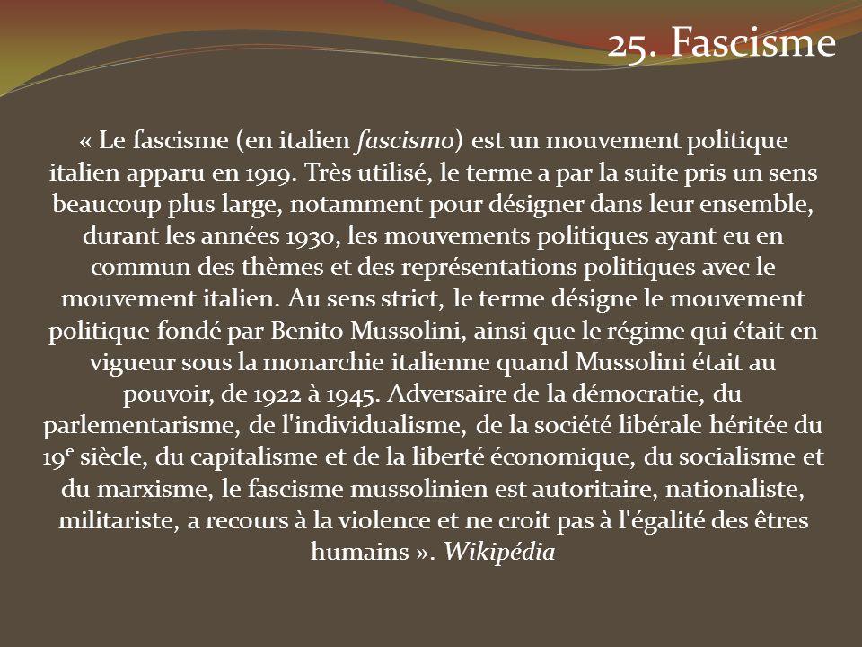 25. Fascisme