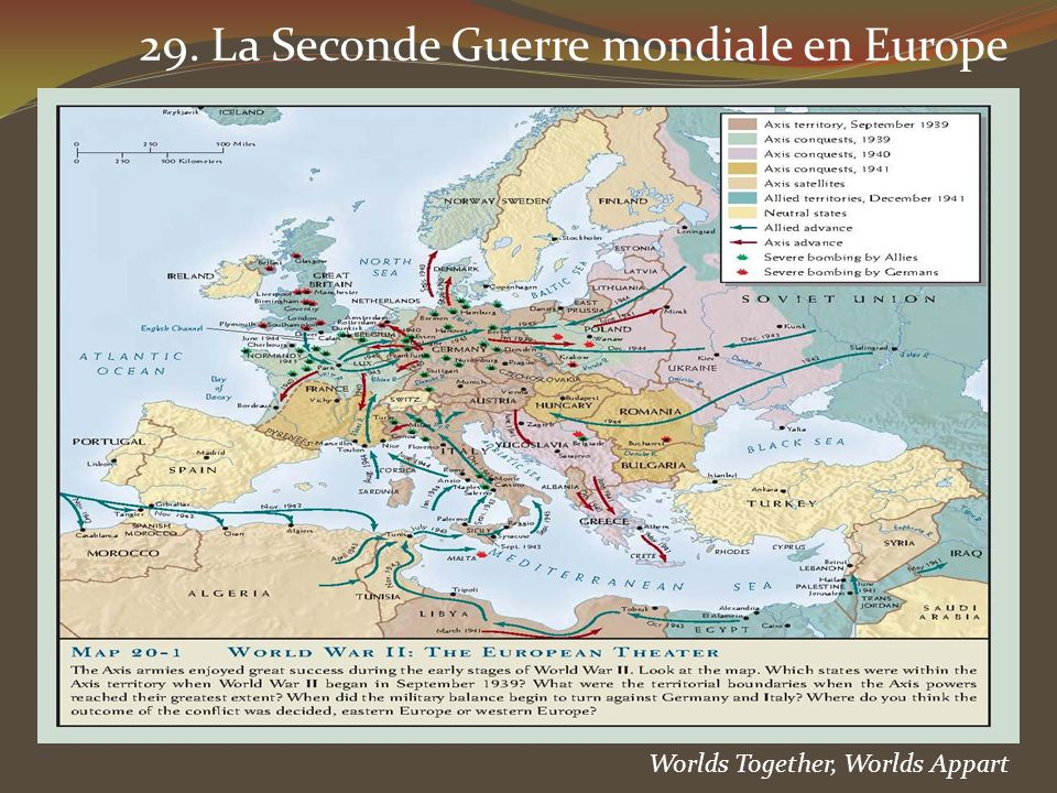 29. La Seconde Guerre mondiale en Europe