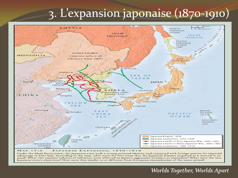 3. L'expansion japonaise (1870-1910)