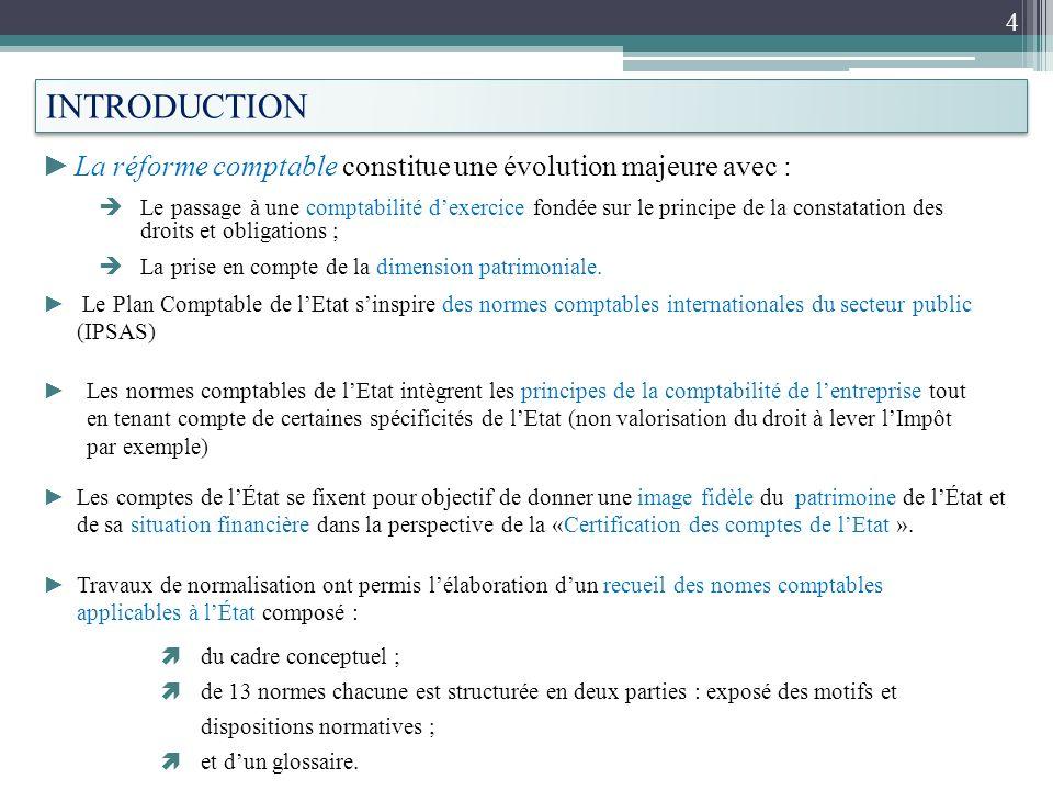 INTRODUCTION La réforme comptable constitue une évolution majeure avec :