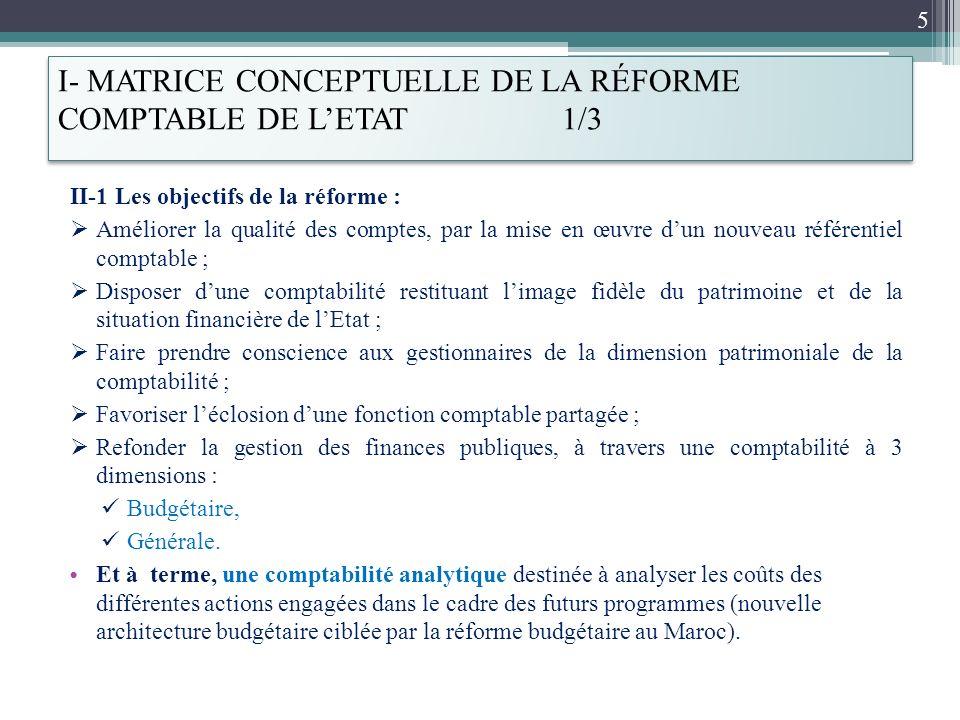 I- MATRICE CONCEPTUELLE DE LA RÉFORME COMPTABLE DE L'ETAT 1/3