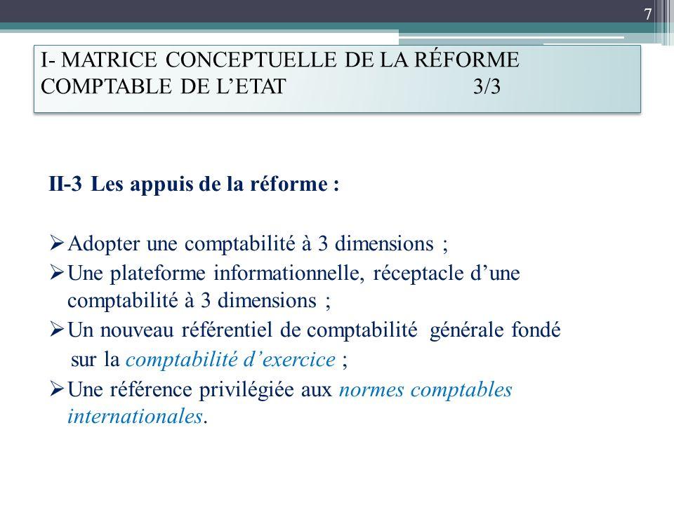 I- MATRICE CONCEPTUELLE DE LA RÉFORME COMPTABLE DE L'ETAT 3/3
