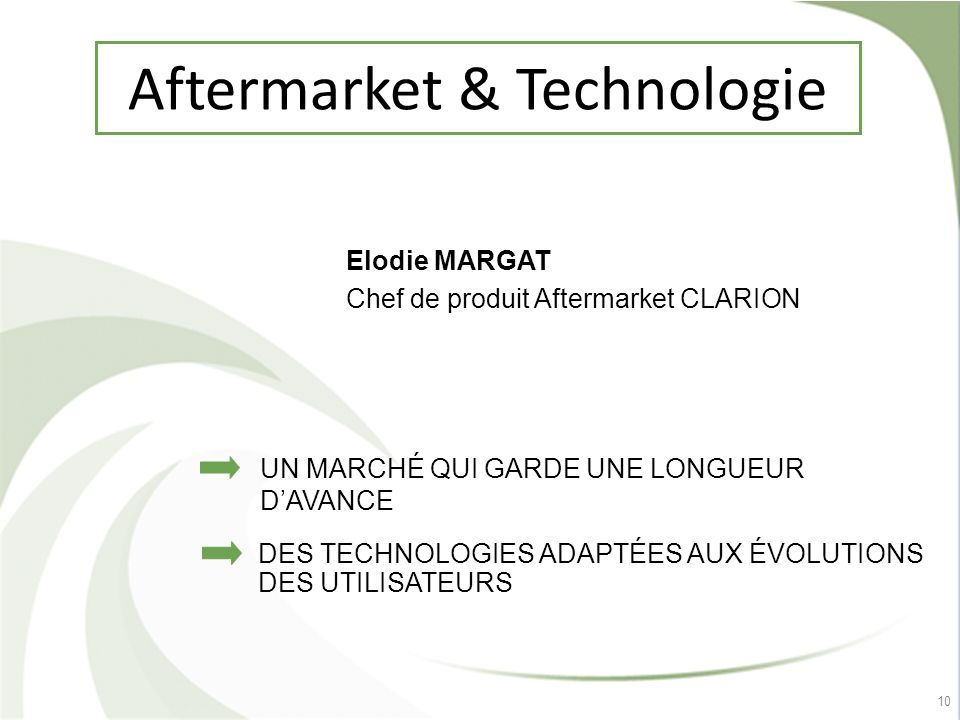 Aftermarket & Technologie