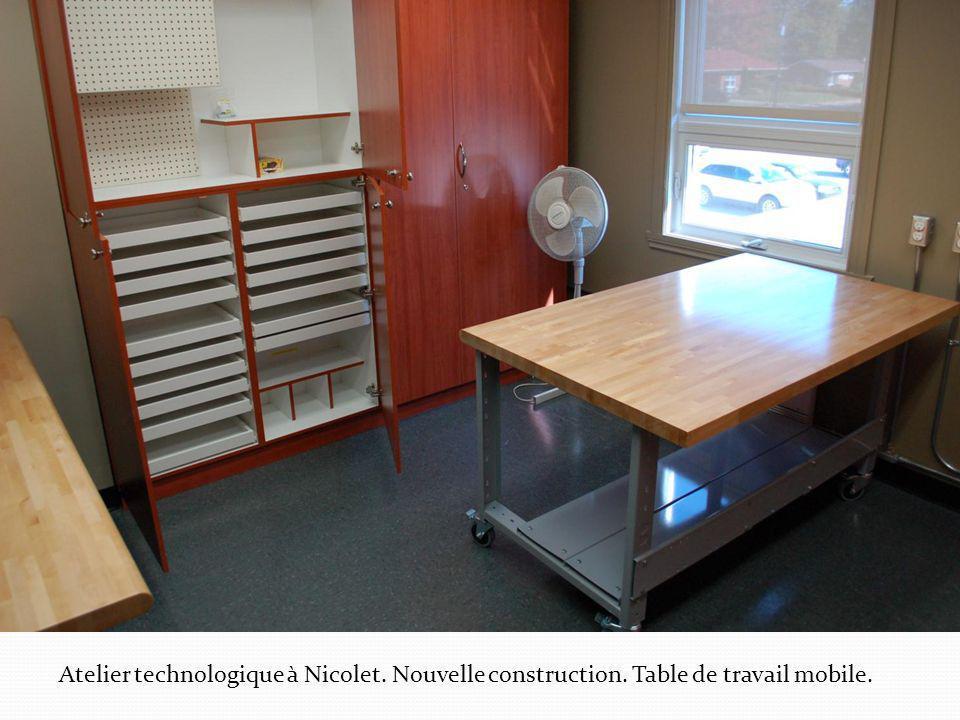 Atelier technologique à Nicolet. Nouvelle construction