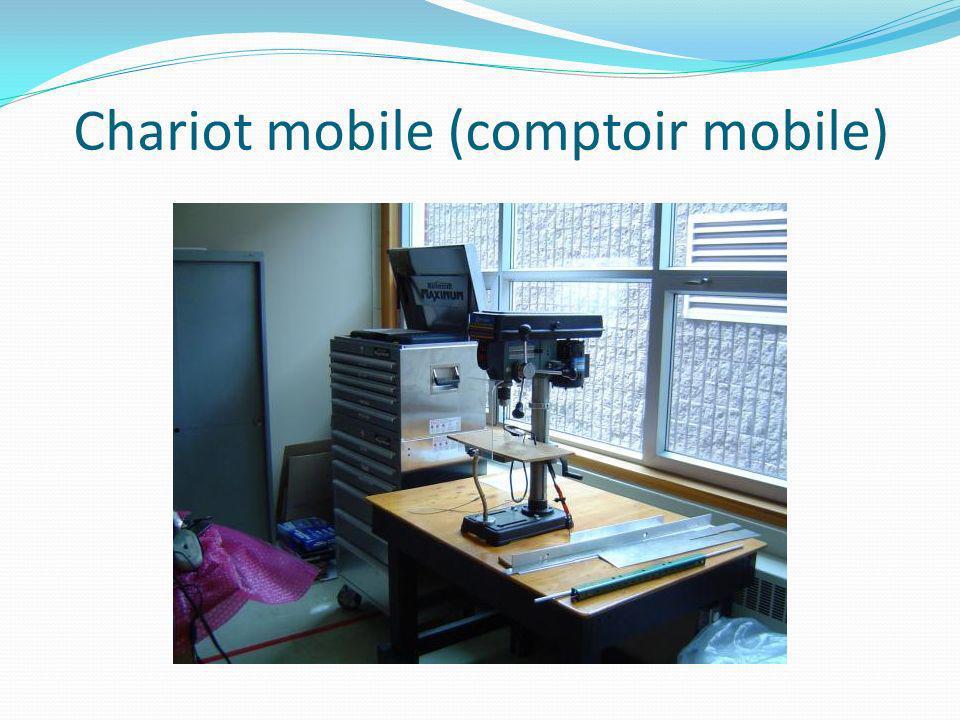 Chariot mobile (comptoir mobile)