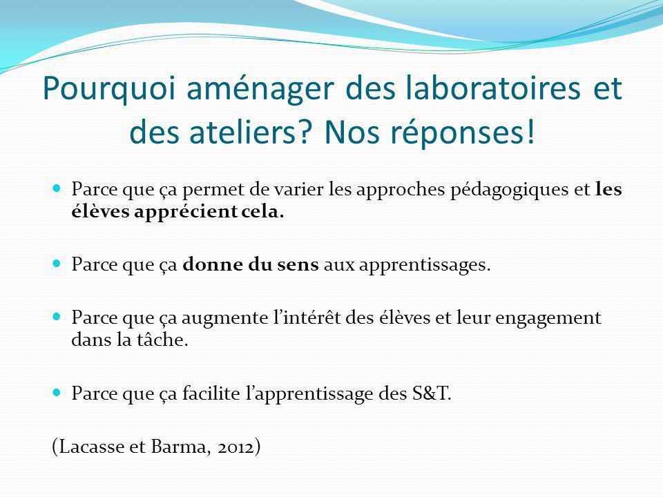 Pourquoi aménager des laboratoires et des ateliers Nos réponses!