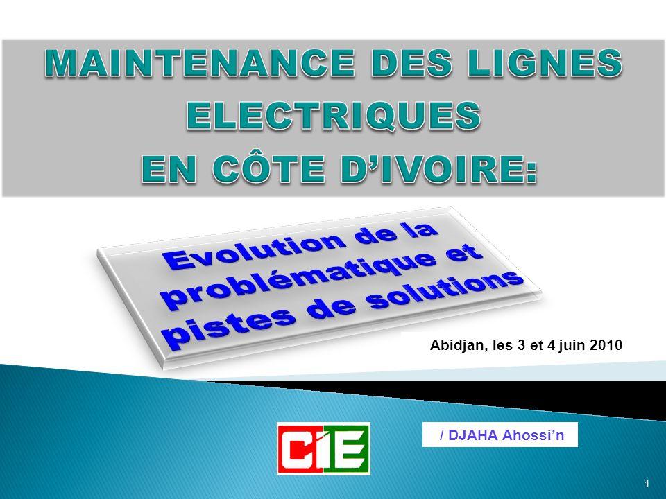MAINTENANCE DES LIGNES ELECTRIQUES EN CÔTE D'IVOIRE: