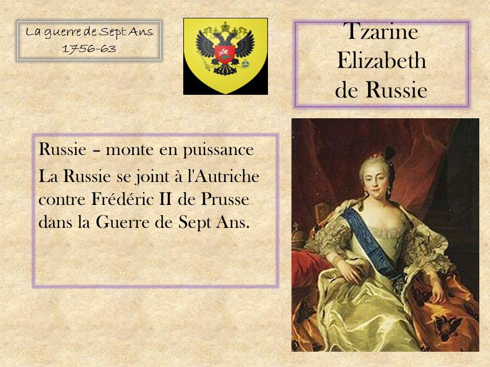 Tzarine Elizabeth de Russie Russie – monte en puissance