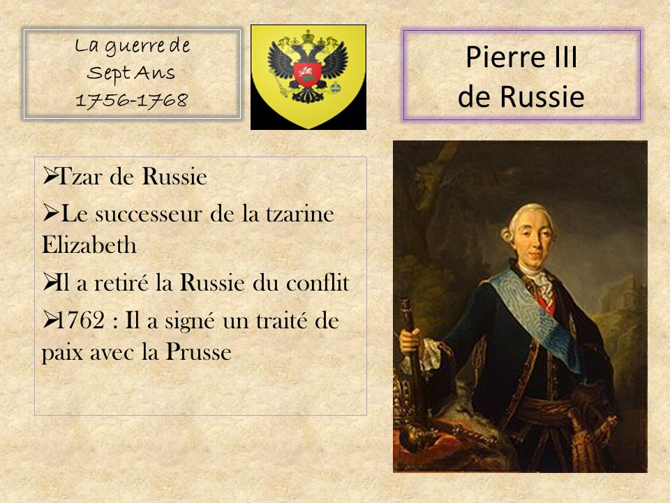 Pierre III de Russie Tzar de Russie
