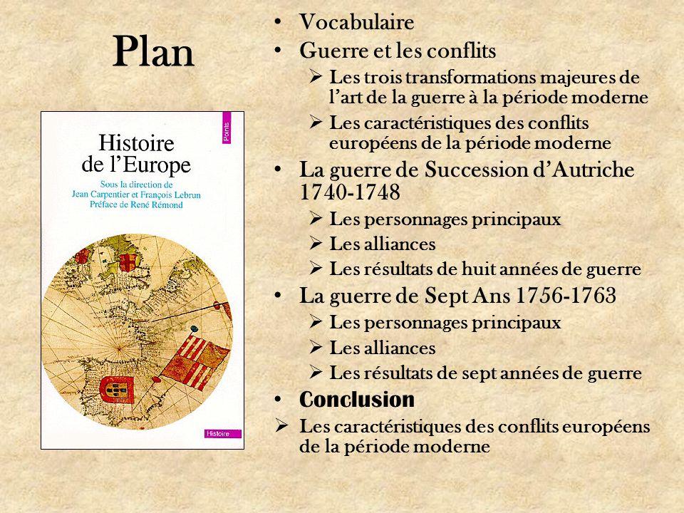 Plan Vocabulaire Guerre et les conflits