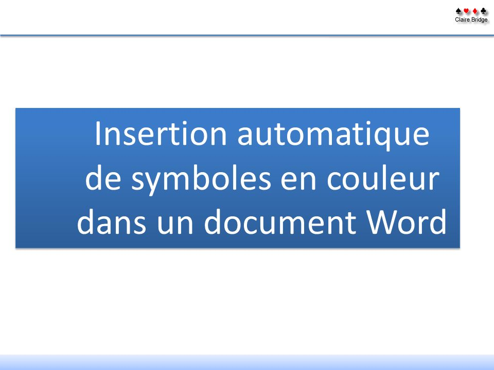 Insertion automatique de symboles en couleur dans un document Word