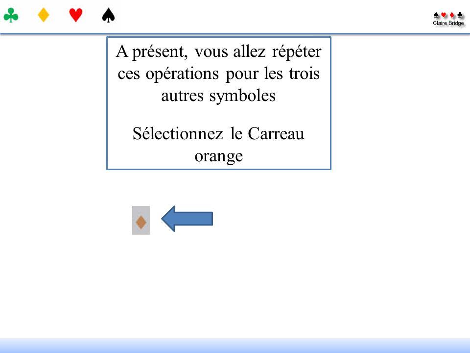 Sélectionnez le Carreau orange
