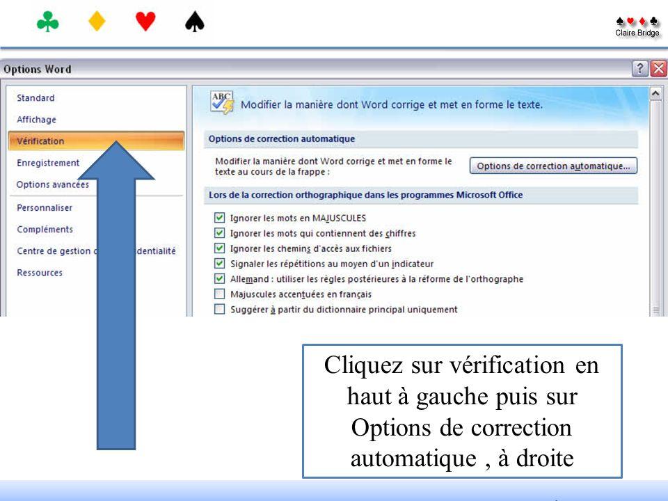Cliquez sur le bouton office en haut, à gauche puis sur Options Word, en bas