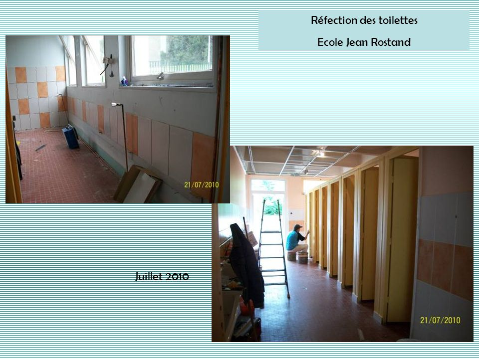 Réfection des toilettes