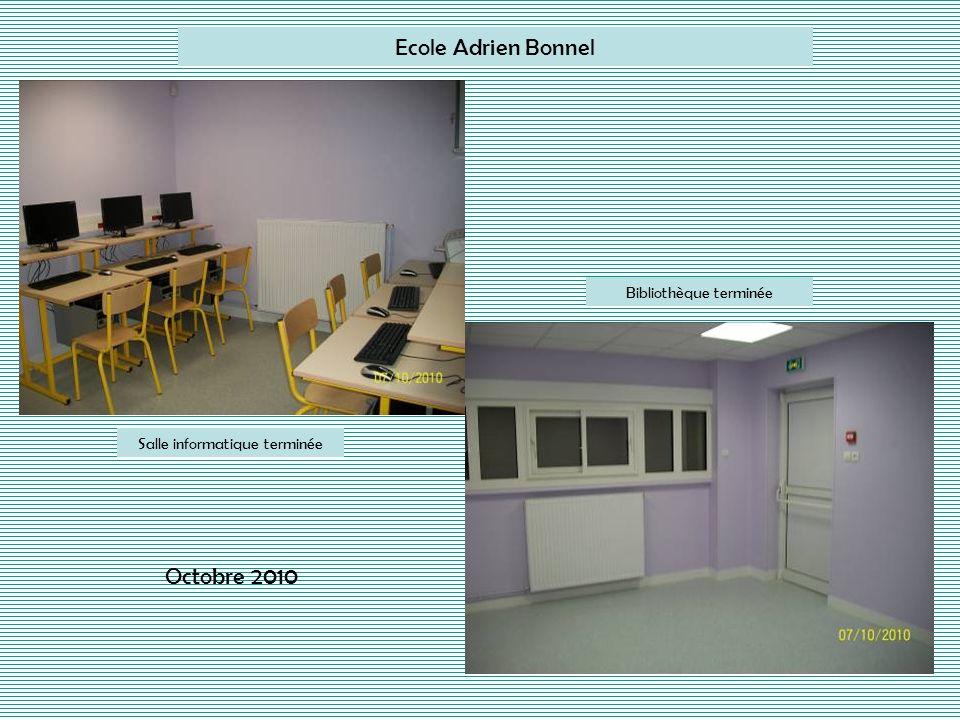 Ecole Adrien Bonnel Octobre 2010 Bibliothèque terminée