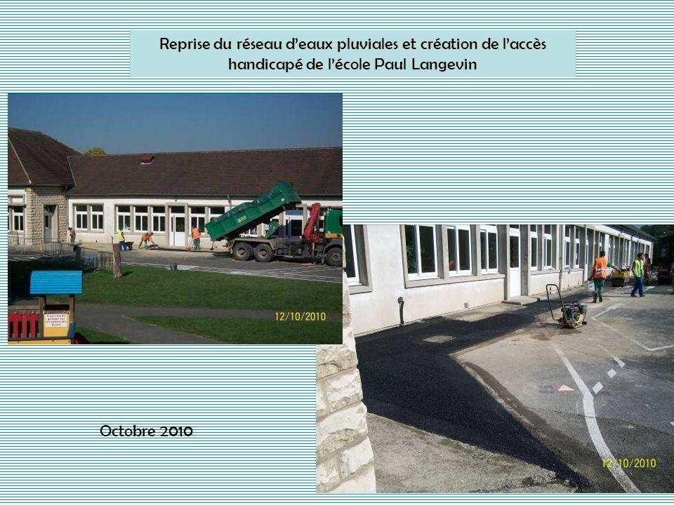 Reprise du réseau d'eaux pluviales et création de l'accès handicapé de l'école Paul Langevin