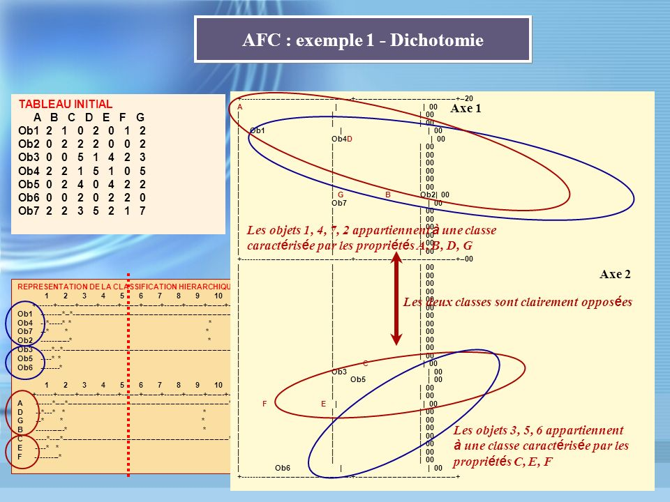 AFC : exemple 1 - Dichotomie