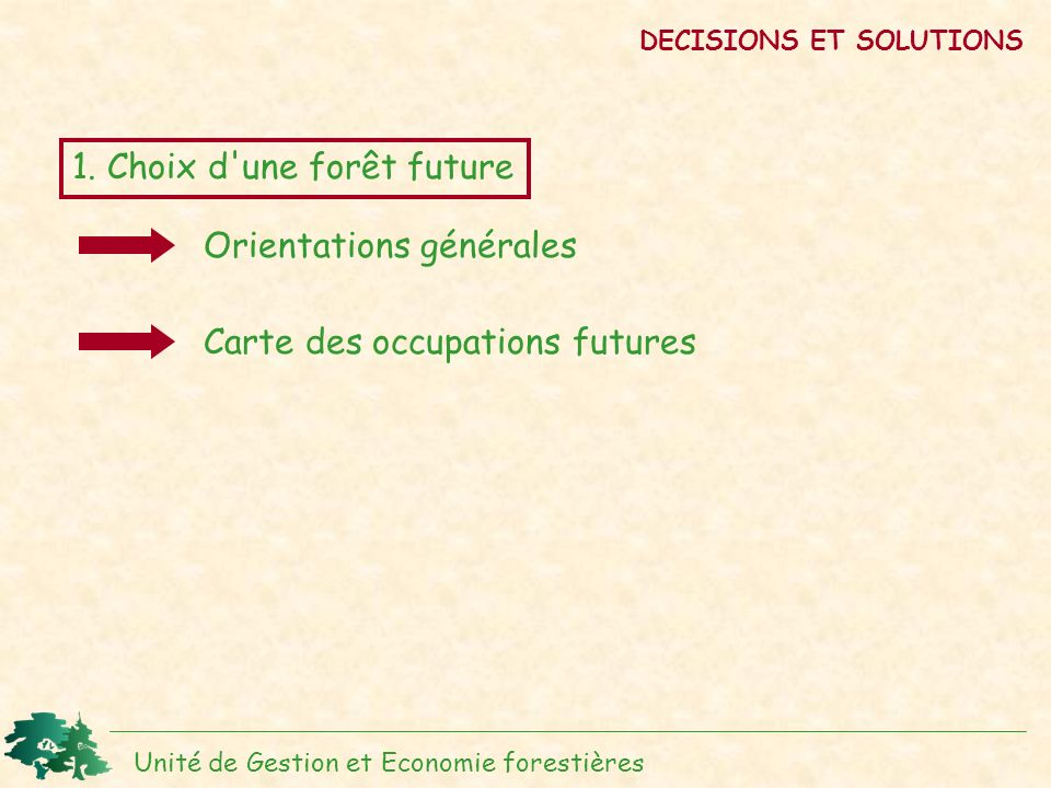 DECISIONS ET SOLUTIONS