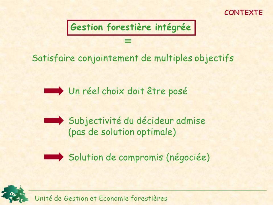  Gestion forestière intégrée