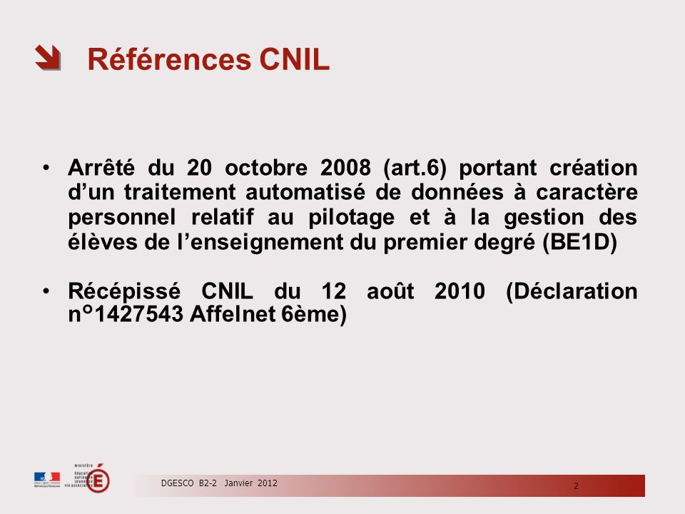 Références CNIL