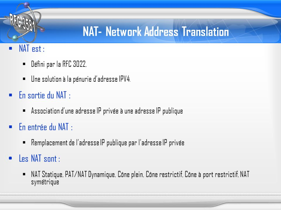 NAT- Network Address Translation