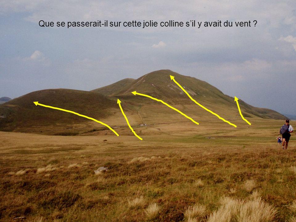 Que se passerait-il sur cette jolie colline s'il y avait du vent