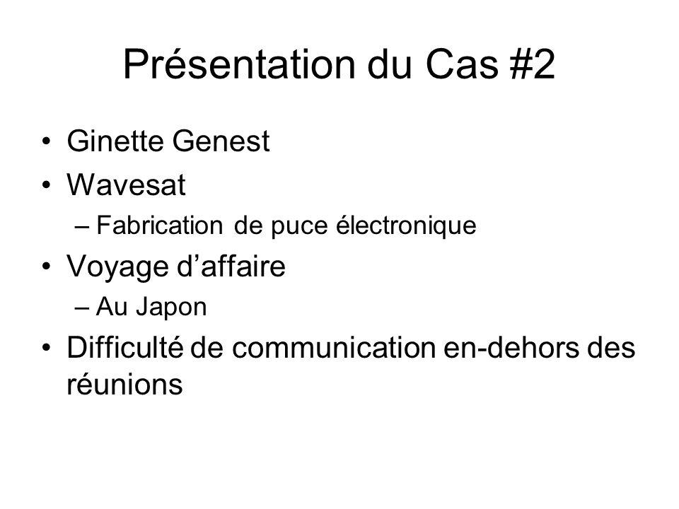 Présentation du Cas #2 Ginette Genest Wavesat Voyage d'affaire