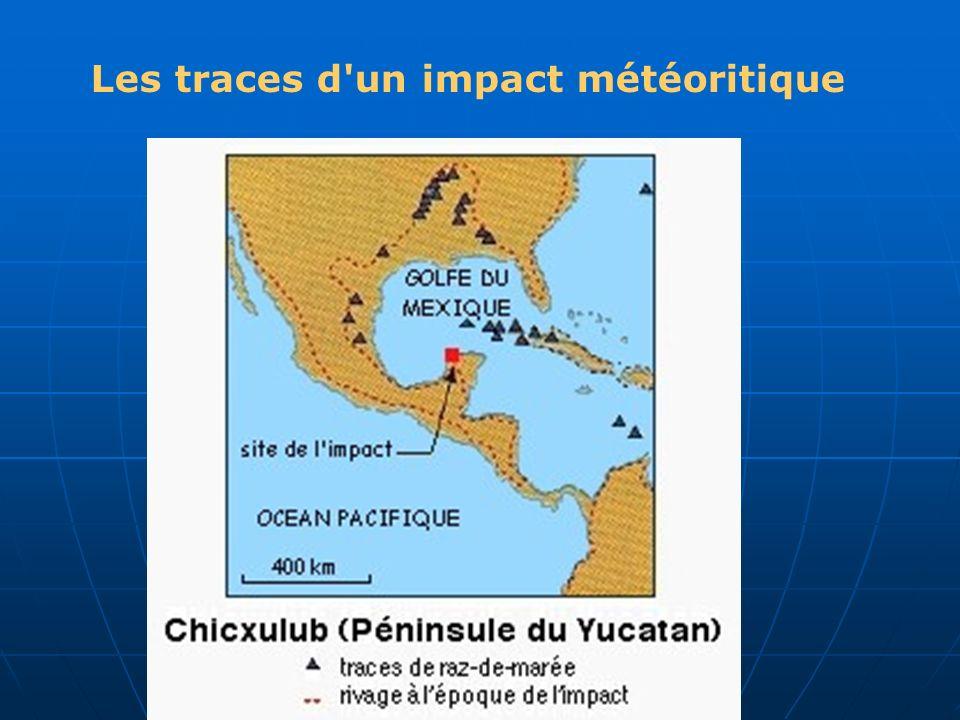 Les traces d un impact météoritique