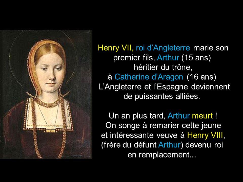 Henry VII, roi d'Angleterre marie son premier fils, Arthur (15 ans)