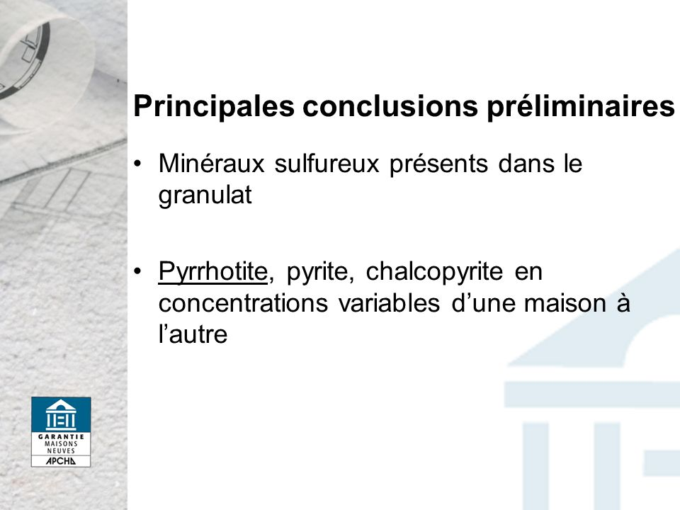 Principales conclusions préliminaires