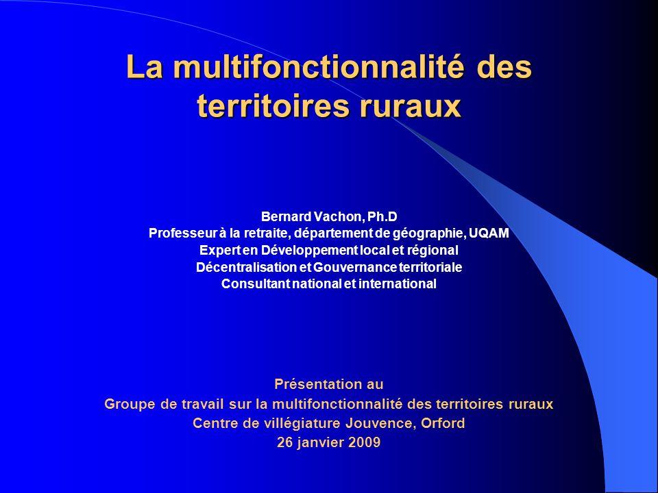 La multifonctionnalité des territoires ruraux