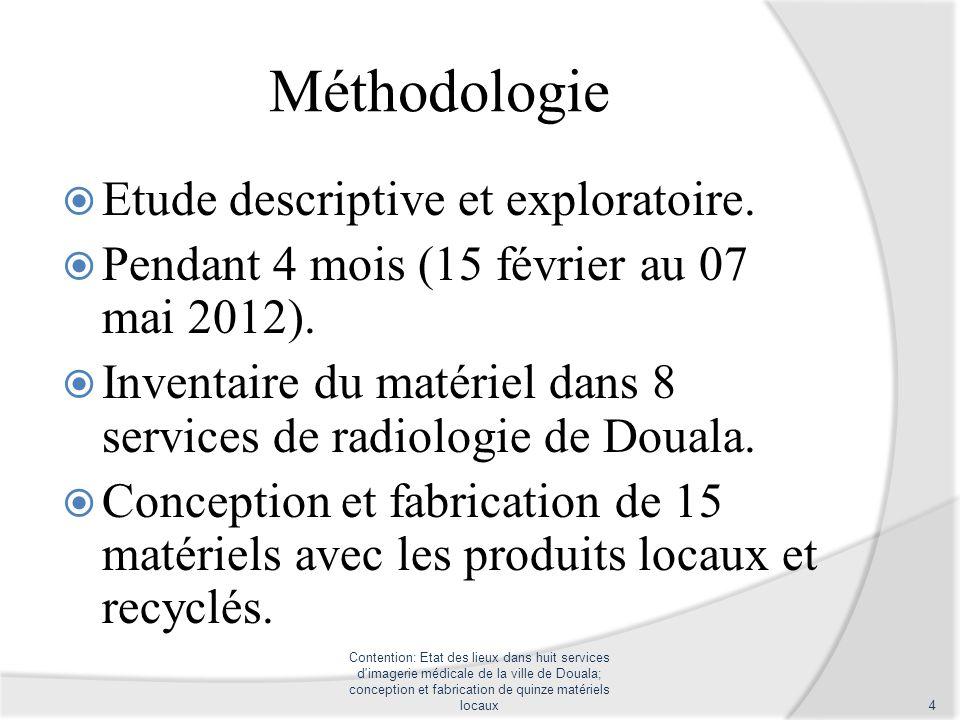 Méthodologie Etude descriptive et exploratoire.