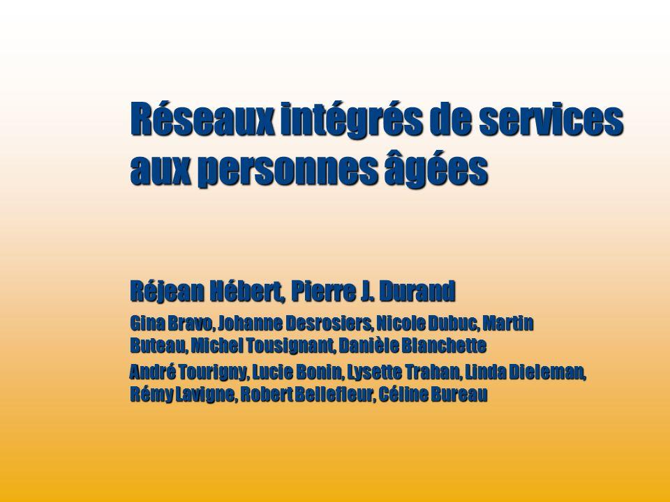 Réseaux intégrés de services aux personnes âgées