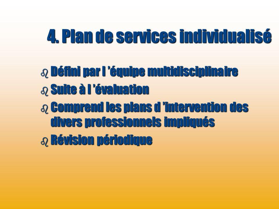 4. Plan de services individualisé