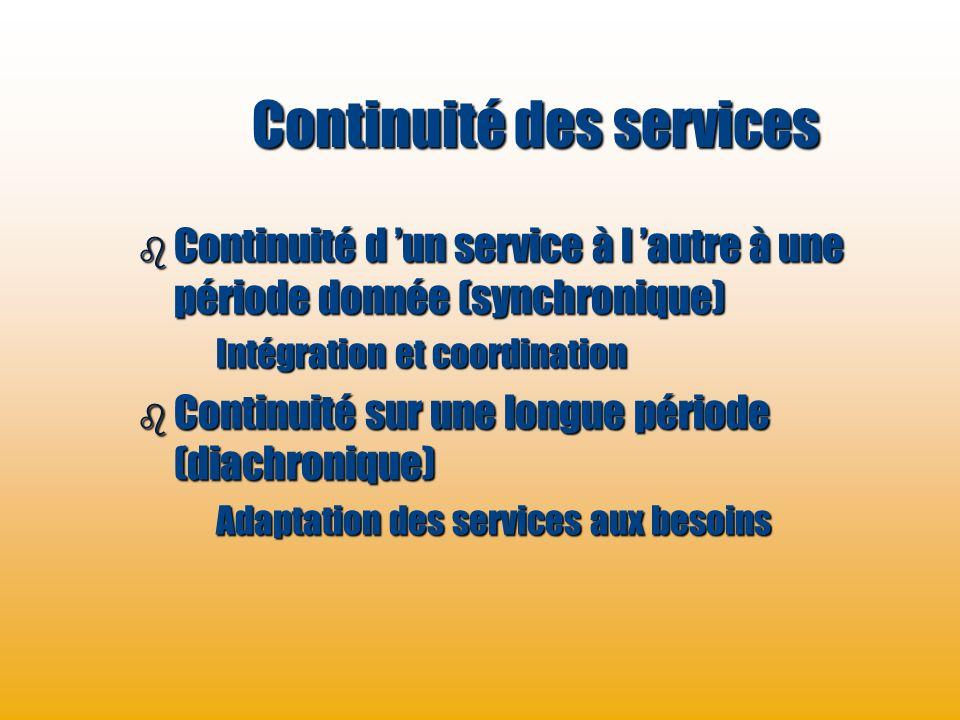 Continuité des services