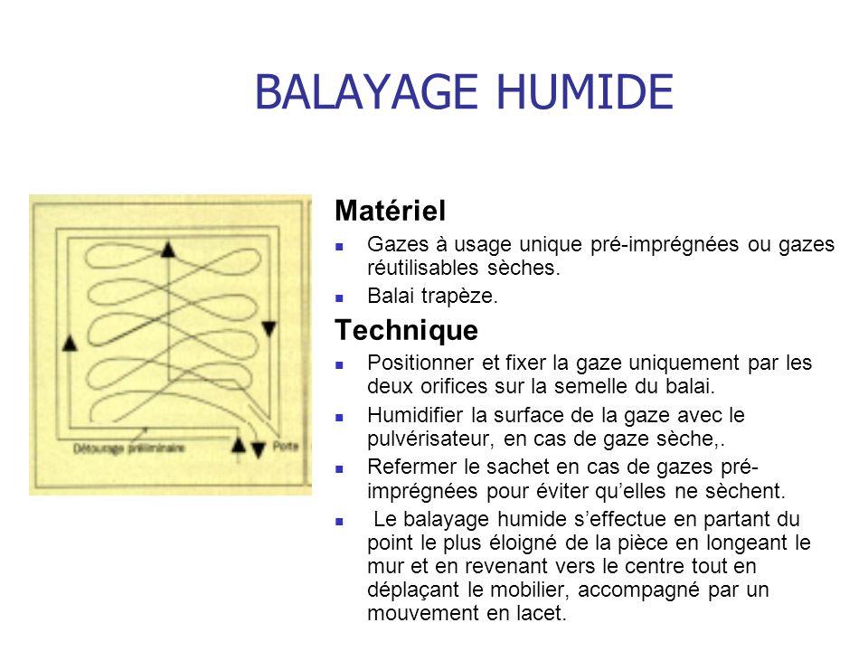 BALAYAGE HUMIDE Matériel Technique