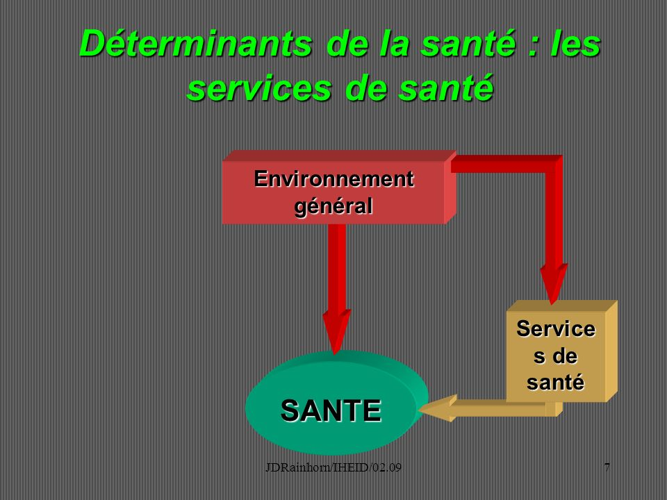Déterminants de la santé : les services de santé Environnement général