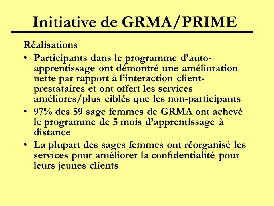 Initiative de GRMA/PRIME