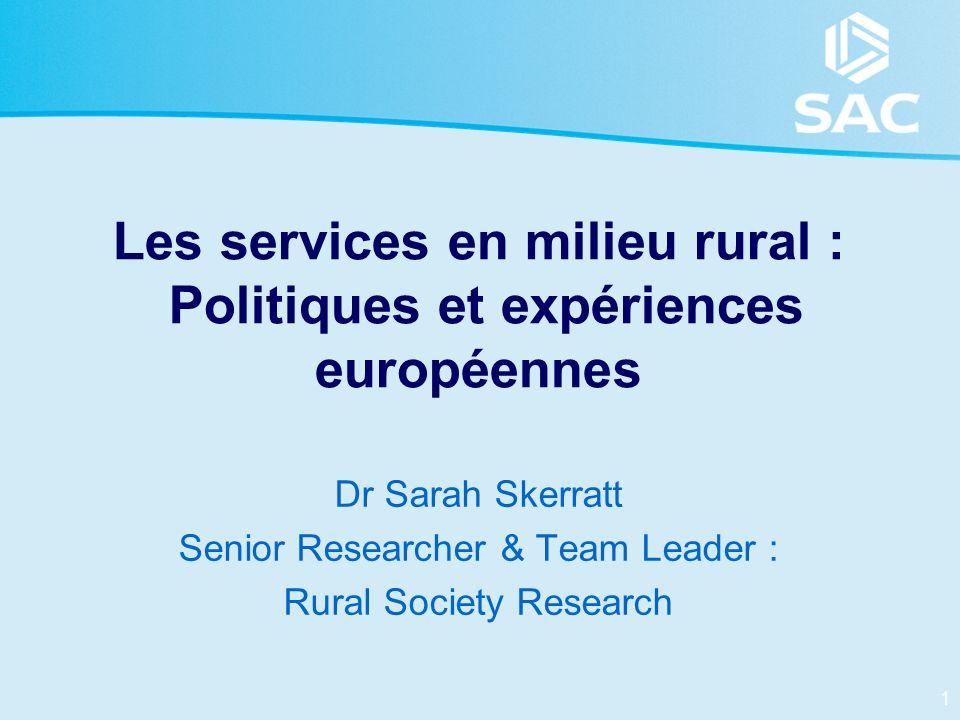 Les services en milieu rural : Politiques et expériences européennes