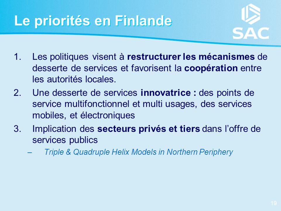 Le priorités en Finlande