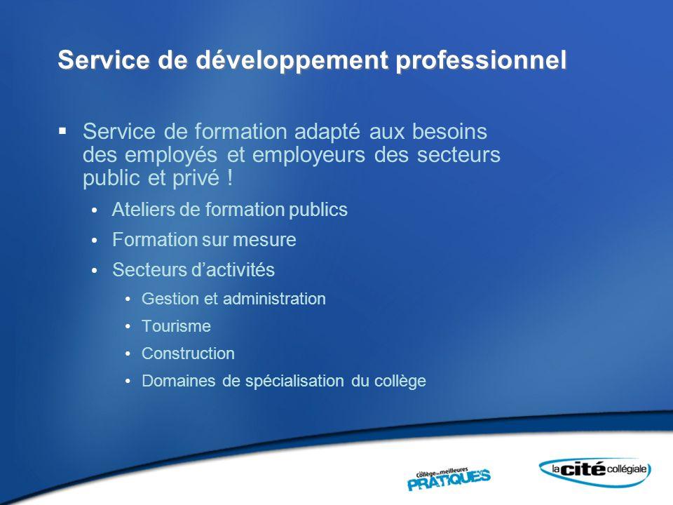 Service de développement professionnel