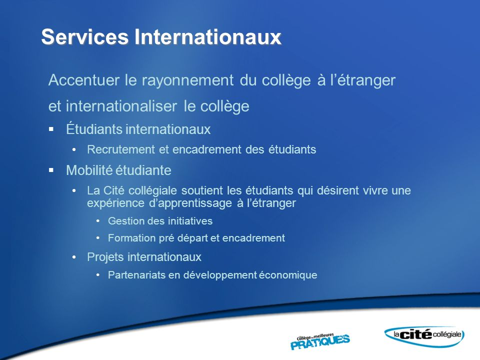 Services Internationaux