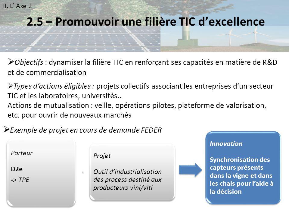 2.5 – Promouvoir une filière TIC d'excellence