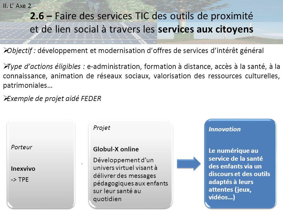2.6 – Faire des services TIC des outils de proximité