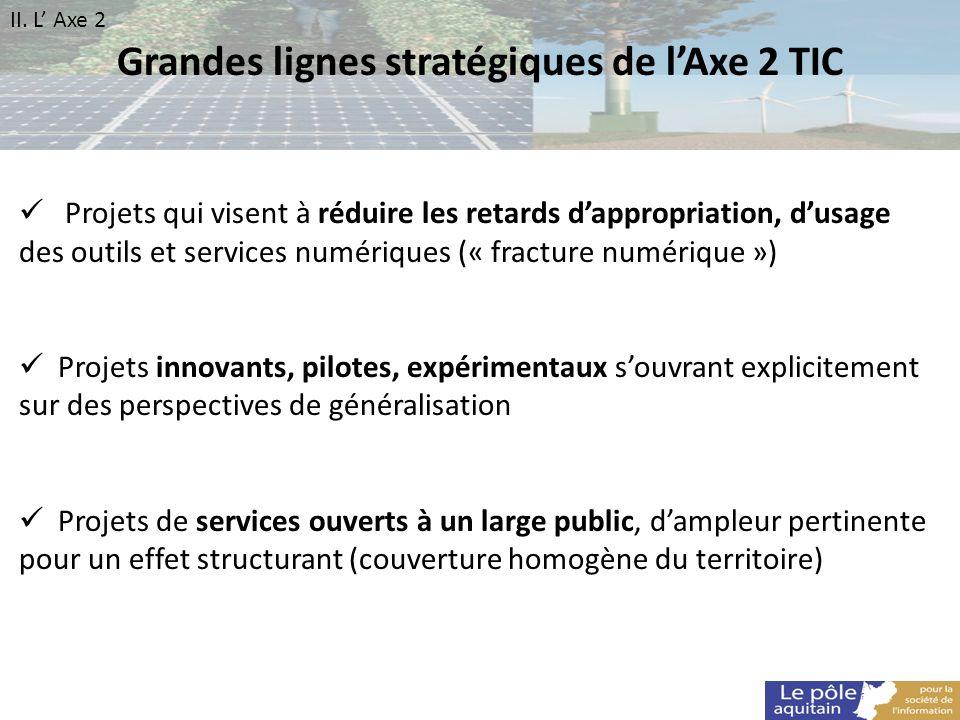 Grandes lignes stratégiques de l'Axe 2 TIC