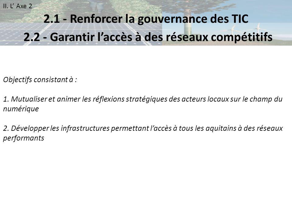 2.1 - Renforcer la gouvernance des TIC